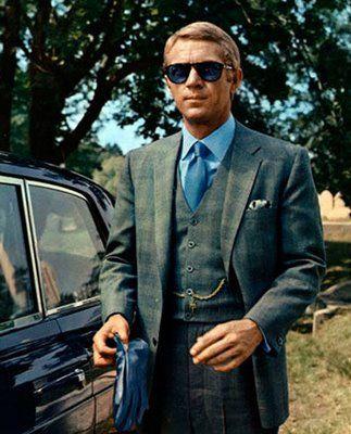 The dapper Steve McQueen in The Thomas Crown Affair, 1968