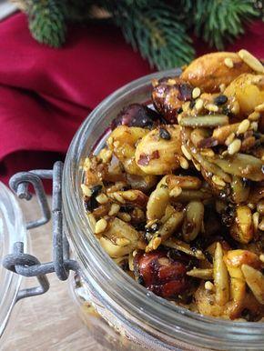 Pikante Würznüsse mit Curry selber machen und verschenken. Hier geht es zum fructosearmen Rezept.