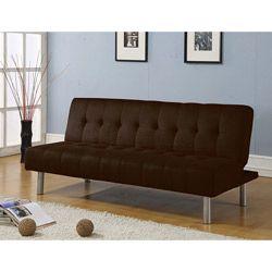 Dalin Adjule Chocolate Microfiber Futon Sofa 214