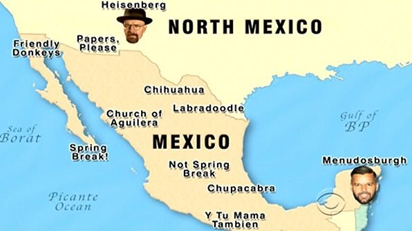 '14' Late Late Show Maps: to Teach You World Geography: 1. Map of Mexico