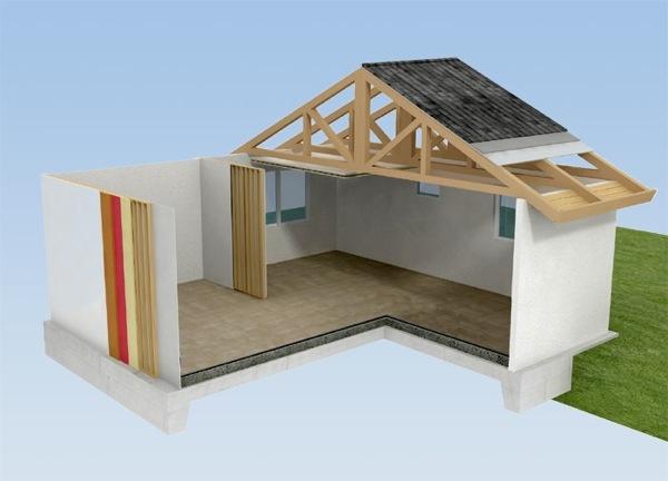 Estructura casa prefabricada plot architecture express for Casetas prefabricadas pequenas