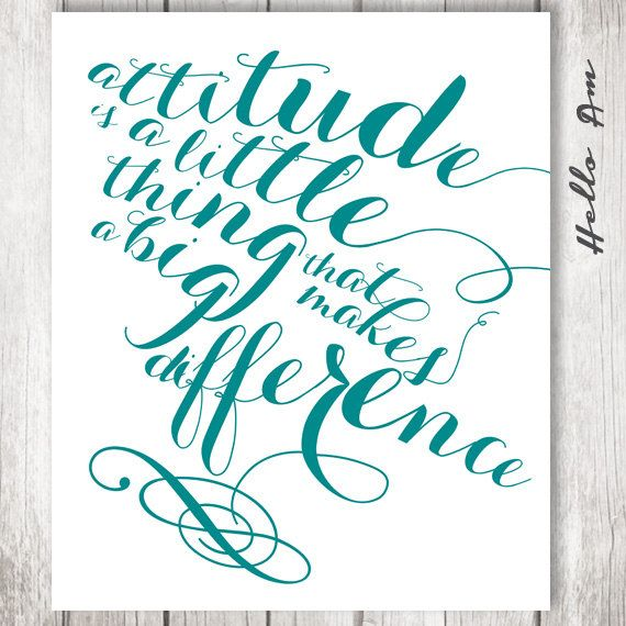 #inspirational #Quotes #wall #deco  Attitude is a little thing that makes a big difference  by HelloAm