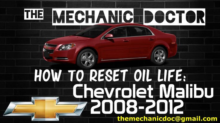 This video will show you step by step instructions on how to reset your oil life indicator on a Chevrolet Malibu 2008-2012.