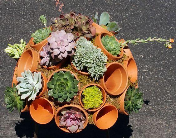 Décorations originales avec les pots en terre cuite