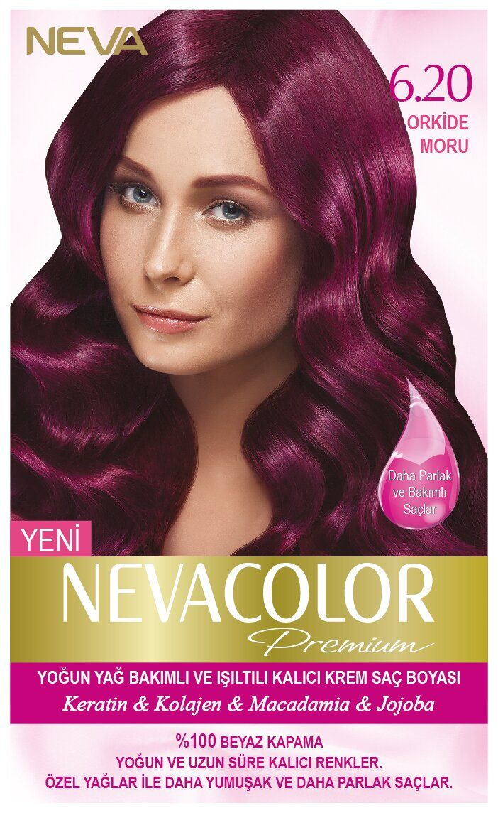Neva Color Premium Sac Boyasi 6 20 Orkide Moru Sac Sac Boyasi