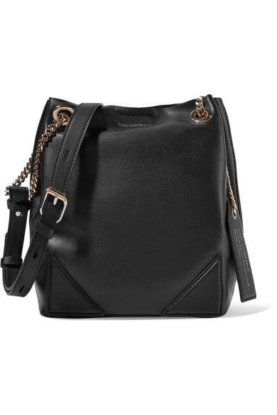 Black leather (Calf) Magnetic-fastening tab at open top  Comes with dust bag  Weighs approximately 1.3lbs/ 0.6kg