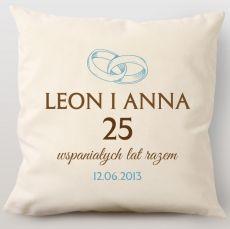 Poduszka personalizowana ROCZNICA idealny na urodziny