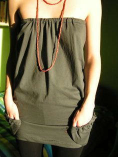 Super cute shirt made from a Tshirt!    http://www.instructables.com/id/T-shirt-to-sexy-top/