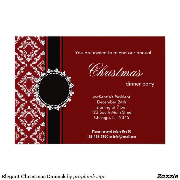 Elegant Christmas Damask Invites Best 28 Christmas