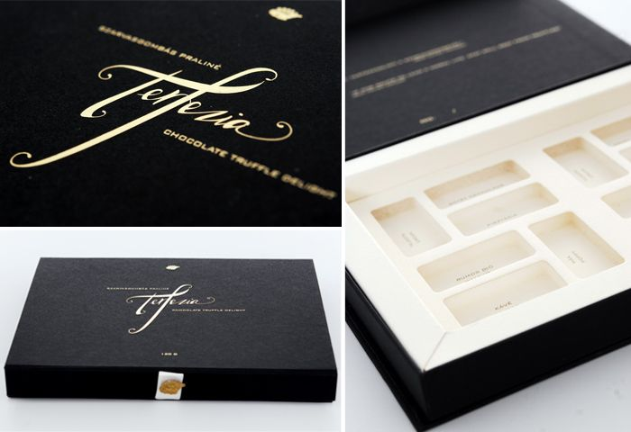 Premium chocolate packaging rigid box