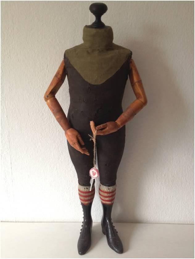 antik schneiderpuppe modepuppe b ste mannequin stockman stiefel 90cm rar. Black Bedroom Furniture Sets. Home Design Ideas