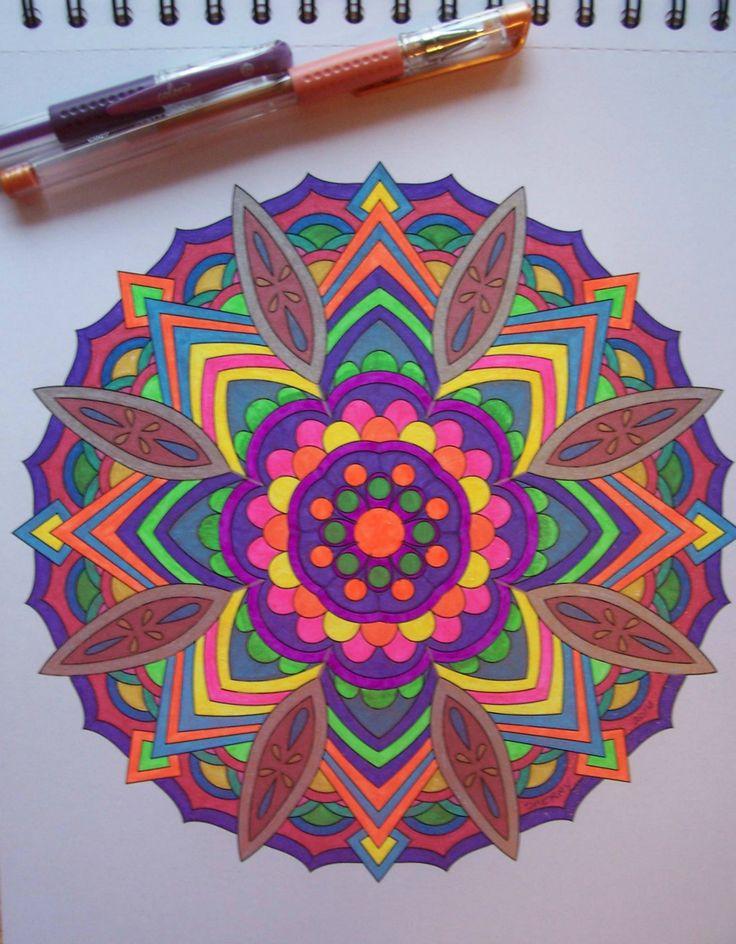 ColorIt Mandalas to Color Volume 1 Colorist: Ooma De #adultcoloring #coloringforadults #mandalas #mandalastocolor