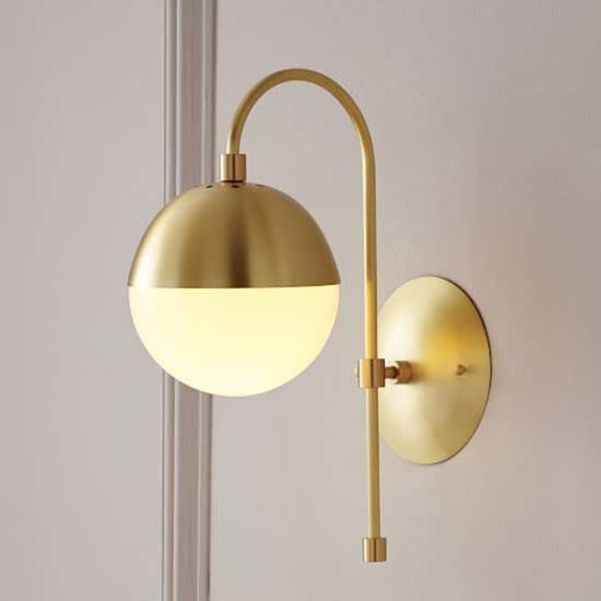 Add sophistication and shine to your room with this wall sconce.