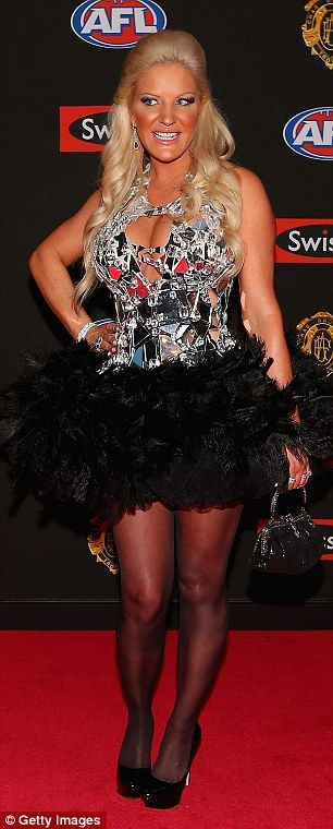 Former wife of Geofrey Edelsten, Brynne, shows off her assets at the 2012 Brownlow Medals