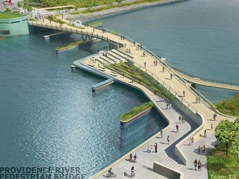 inFORM studio & Buro Happold - Providence River Pedestrian Bridge Design Competition