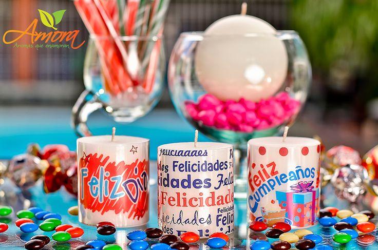 Velas con aroma para recordatorios y obsequios en fechas especiales.