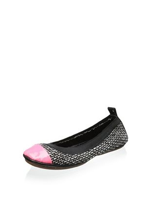60% OFF Yosi Samra Women's Samara Tweed Ballet Flat (Hot Pink)