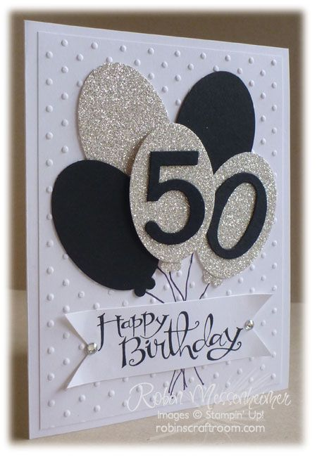 This birthday card could be used for any birthday, just change the colors and numbers and looks like it would be quick to make!