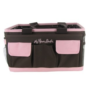 craft organizer bag the paper studio pink amp brown craft organizer shop hobby 1597