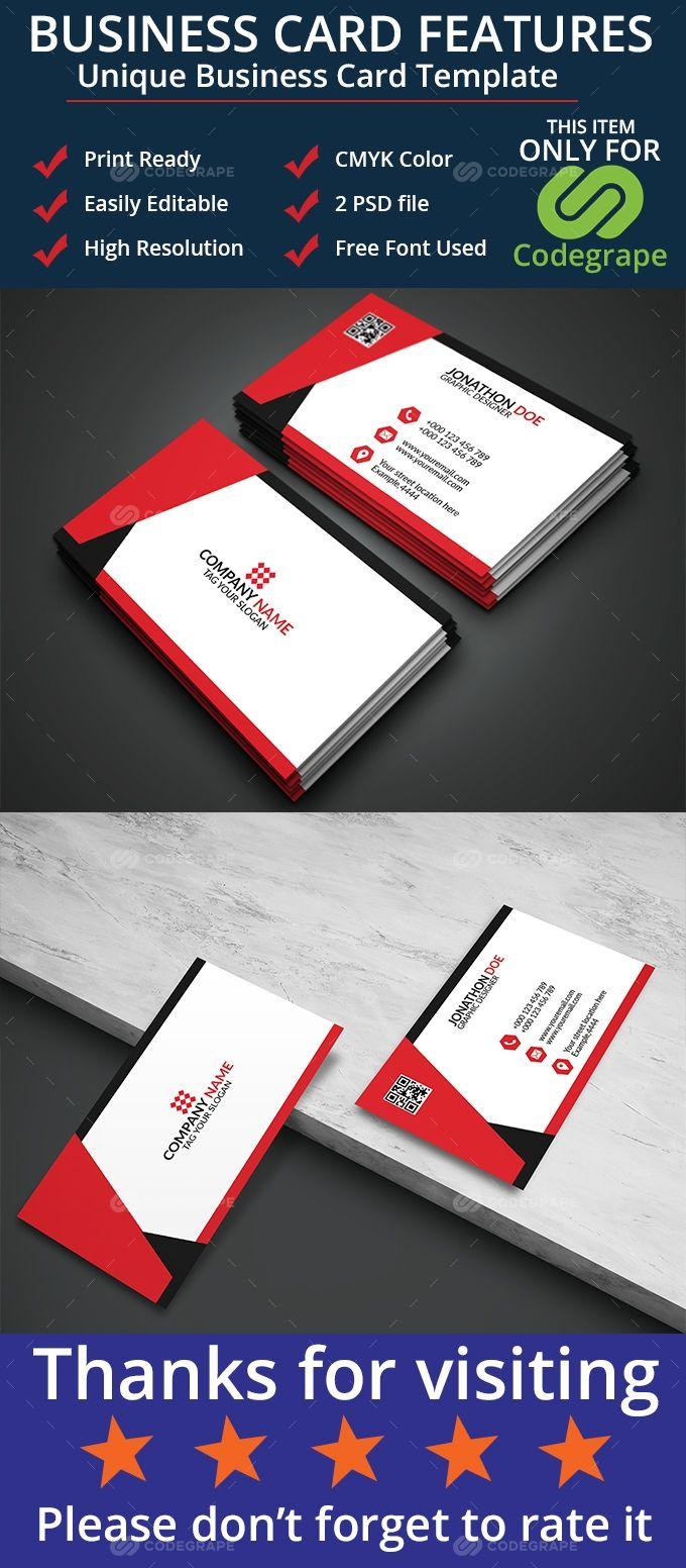 Unique Business Card Unique Business Cards Double Sided Business Cards Business Card Template