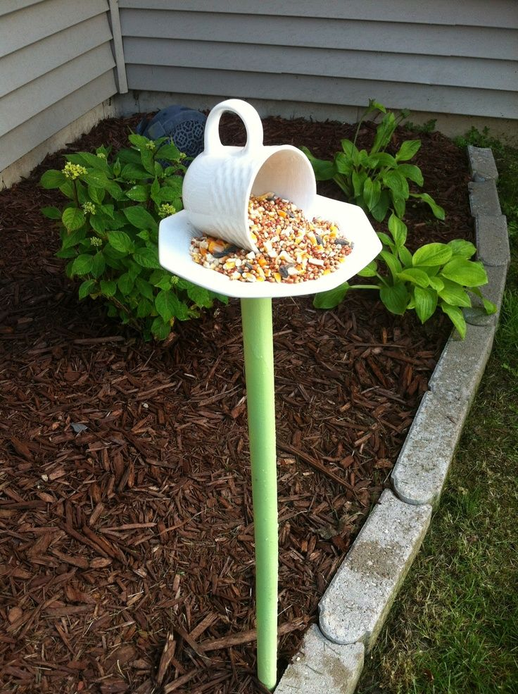 Cup And Saucer Bird Feeer Tea Cup Bird Feeder Made From