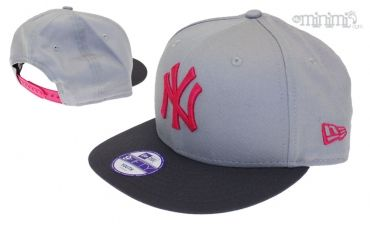 Photo Casquette Snapback New Era enfant NY 4-12 ans - New York Yankees Gris, noir et rose #Kids #Swag #Sneakers #Fashion #myminimi