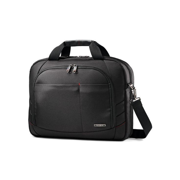 Samsonite Xenon 2 Tech Locker Laptop Briefcase, Black