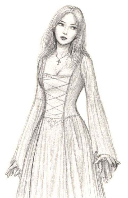 medieval dress | Tumblr, this reminds me a bit of Lia, without her bow and arrows, in the River of Time Series <3