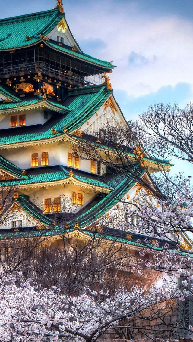 Japanese Castle in Sakura