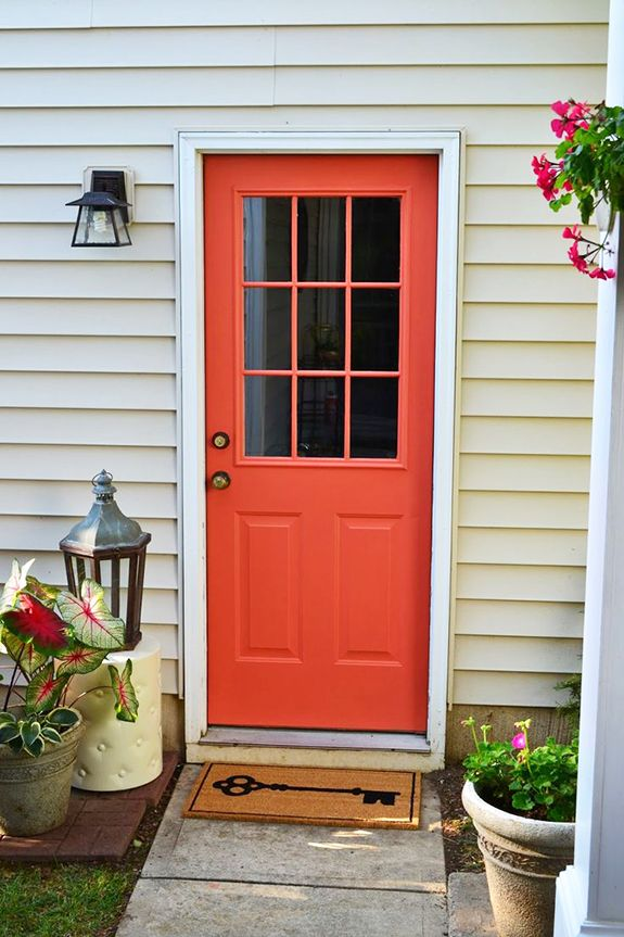 front door paint on exterior back door project by dwell by cheryl