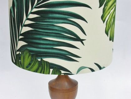 Lampshade in Tropical Palms Fabric-Aloha!