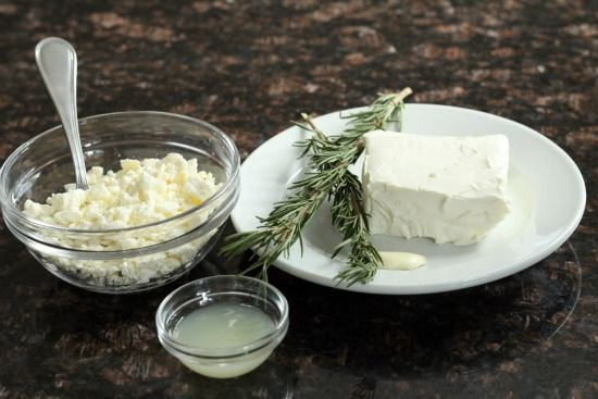 Rosemary, Lemon, & Feta Spread, an easy appetizer recipe with feta cheese, rosemary, lemon, and garlic.  Great spread and dip for bread, crackers, veggies, etc.