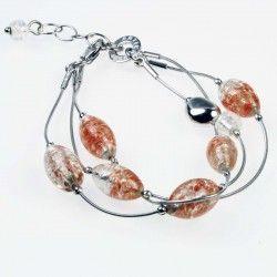 Antica Murrina Pandora #Bracelet Amber Avventurina #jewellery #murano