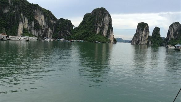 Peter went to NAM.  Halong Bay