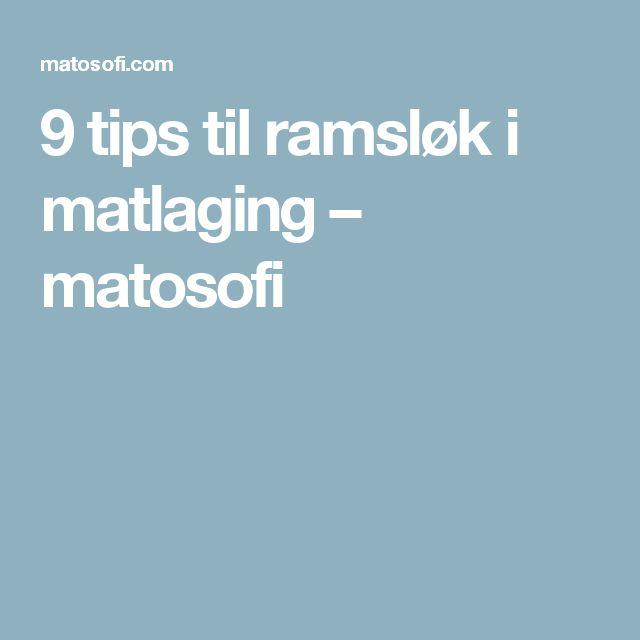 9 tips til ramsløk i matlaging – matosofi