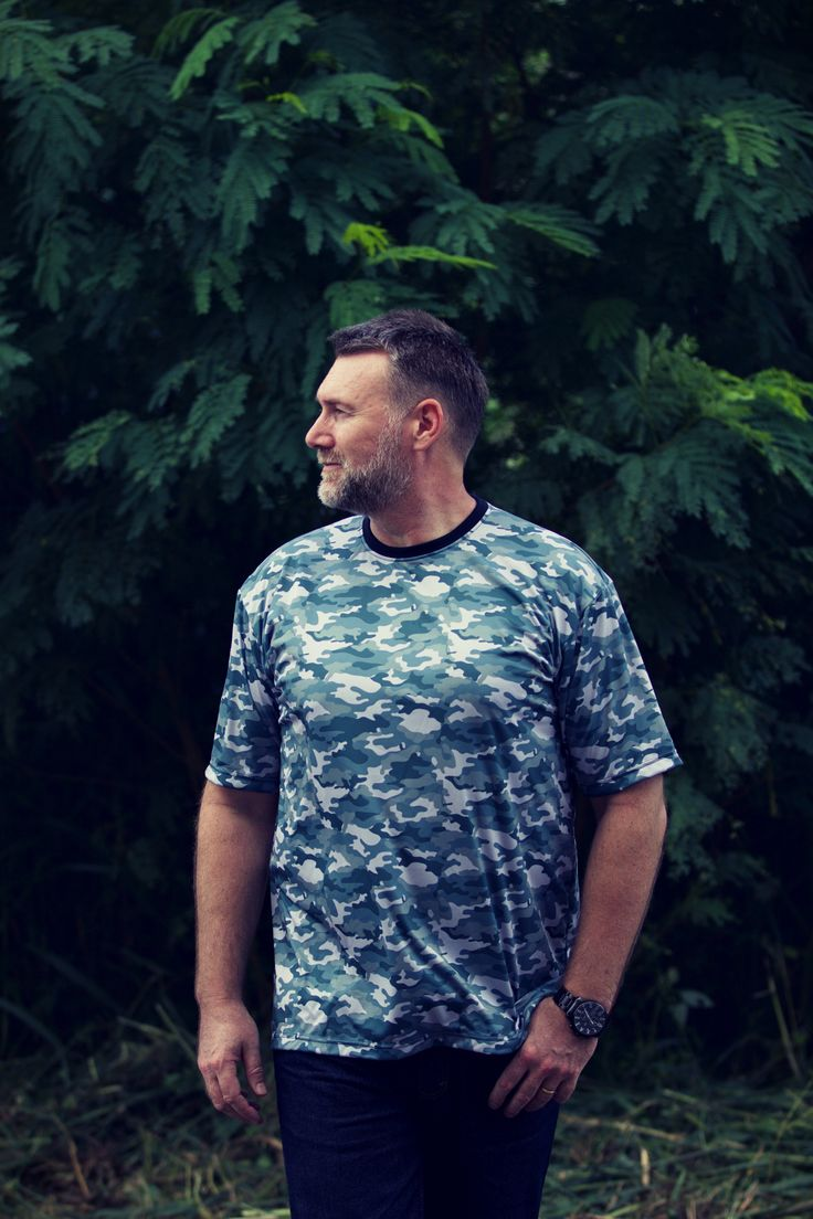 From our Camo Collection - check it out on... the3bears.online -Tag a guy who would look good in one of these shirts and inspire them! the3bears.online New tropical collection out now. #plussizemensclothing #plussizeshirts #mensplussizefashion visit www.the3bears.online
