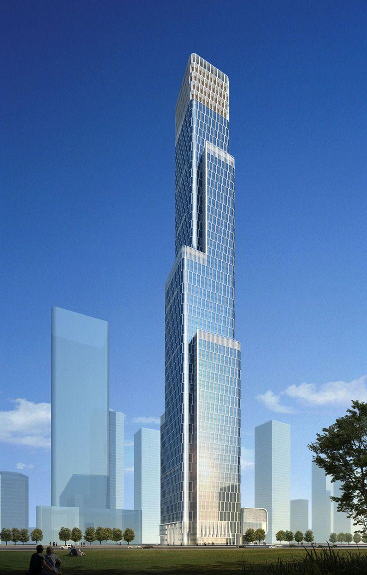 Tianjin R Guangdong Tower in Tianjin by Goettsch Partners