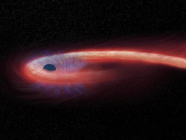 Es gibt drei Kategorien von Schwarzen Löchern: Stellare, mittelschwere und supermassive Schwarze Löcher.