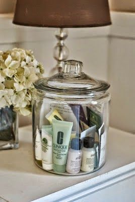 Guest room necessities aka a nice jar full of hotel soaps I always take