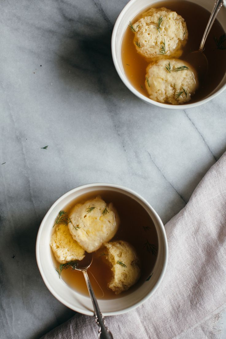 chickpea matzoh ball soup from chickpea flour does it all / @yehmolly