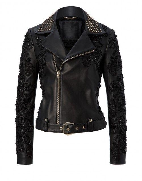 "leather jacket ""black widow"" | Philipp Plein"