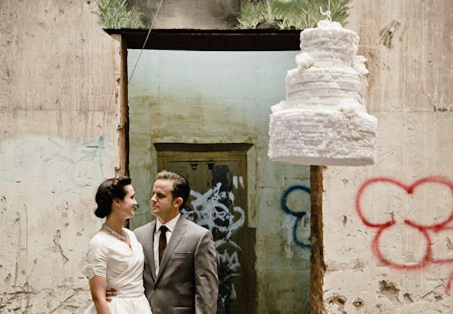 12 Wedding Pinatas We're Obsessed With | Photo by: Photo by: Jared Platt | TheKnot.com