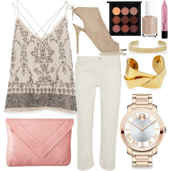 Untitled #1628 by linneabryngnas on Polyvore featuring Zara, Acne Studios, Jimmy Choo, Knights and Roses, Movado, Devon Leigh, Jennifer Fisher, MAC Cosmetics, NYX and Essie