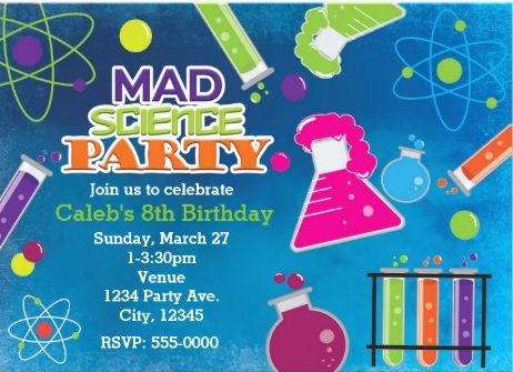 75 best Kids Party Invitations images – Mad Scientist Birthday Party Invitations