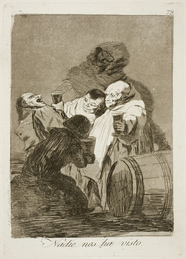 "Francisco de Goya: ""Nadie nos ha visto"". Serie ""Los caprichos"" [79]. Etching, aquatint and burin on paper, 212 x 150 mm, 1797-99. Museo Nacional del Prado, Madrid, Spain"