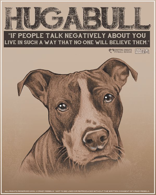The Vintage Collection: Hugabull Pitbull Print, proceeds benefit Sniffing Snouts Pitbull Rescue.
