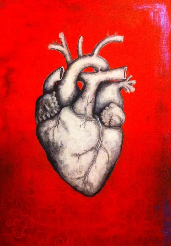 """""""HeArt"""" Andrea Muga 27x41 cm acrylic on canvas #anatomy #art #heart"""