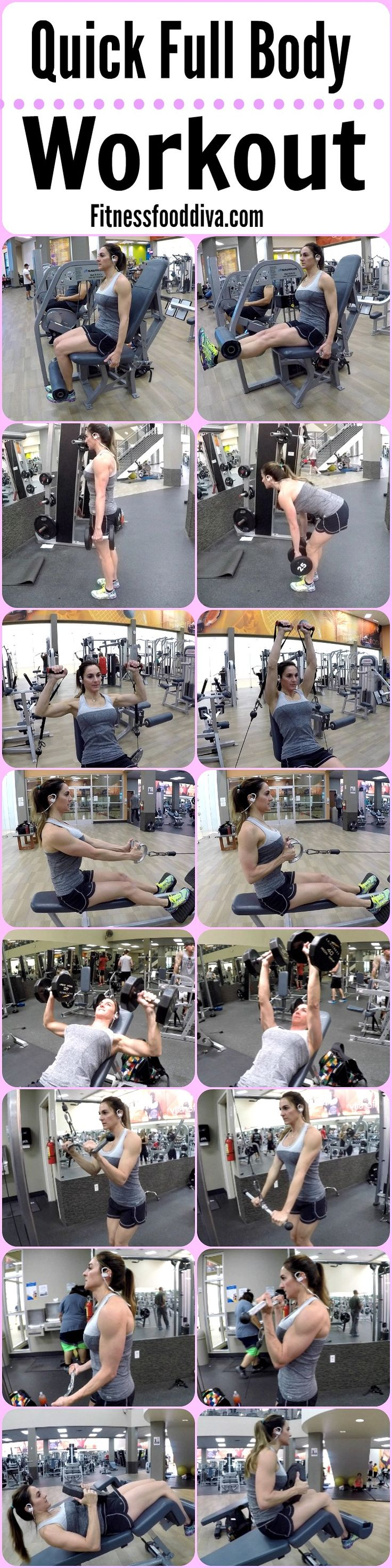This is a great Full Body Workout that will have you in and out of the gym fast!