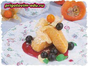 Апельсиновое желе с хурмой