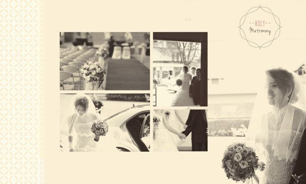 Wedding Day Album Design, photo by HOP, edit  design by Wenny Lee, via Behance